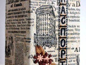 Скрапбукинг-обложка на паспорт11