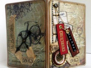 Скрапбукинг-обложка на паспорт12