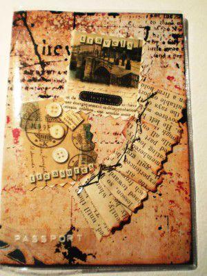 Скрапбукинг-обложка на паспорт8