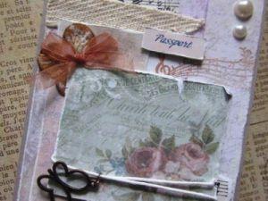 Скрапбукинг-обложка на паспорт9
