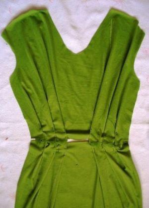 Трикотажное платье своими руками12