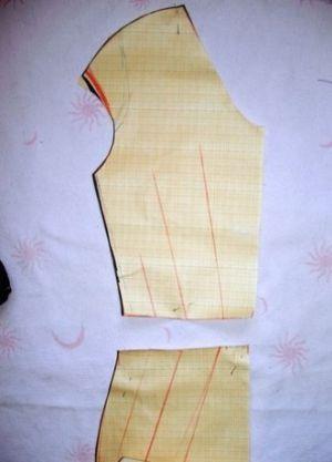 Трикотажное платье своими руками6