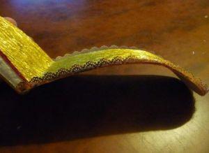 Туфелька из конфет - мастер-класс18