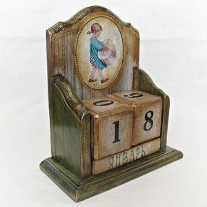 Вечный календарь - декупаж своими руками9