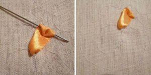 Вышивка лентами - подсолнухи7