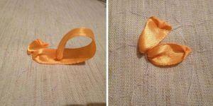 Вышивка лентами - подсолнухи8