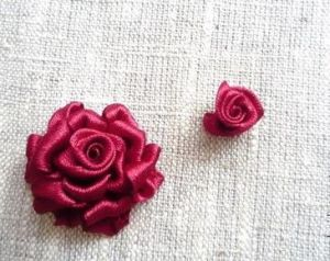 Вышивка лентами розы15