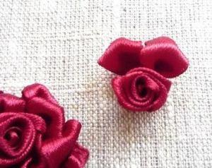 Вышивка лентами розы21