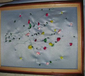 Вышивка лентами - тюльпаны14