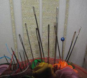Вышивка лентами - тюльпаны3