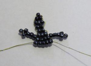 Ящерица из бисера - схема22
