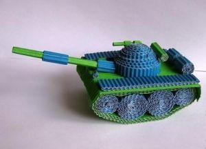 как из картона сделать танк7