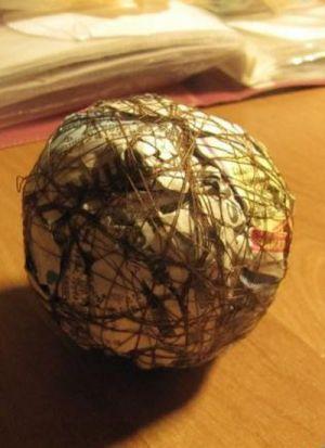 Топиарий из атласных лент 2