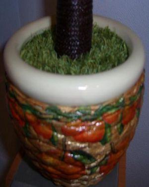 топиарий из цветов и органзы 5