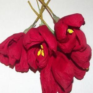 тюльпаны из гофрированной бумаги 10