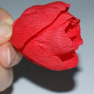 тюльпаны из гофрированной бумаги 7