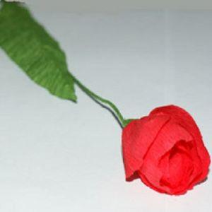тюльпаны из гофрированной бумаги 9