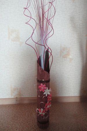 вазы из газетных трубочек24