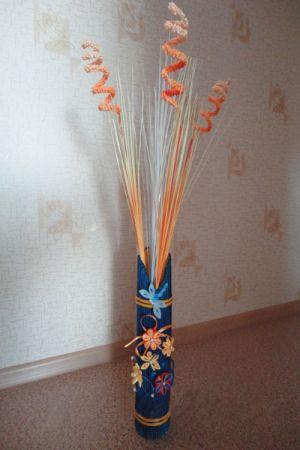 вазы из газетных трубочек25