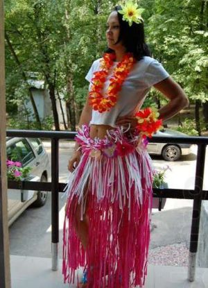 гавайская вечеринка костюмы своими руками 11