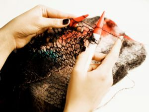 вязание из тонкого мохера спицами 3