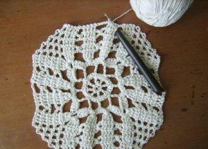 вязание скатерти крючком фото 10