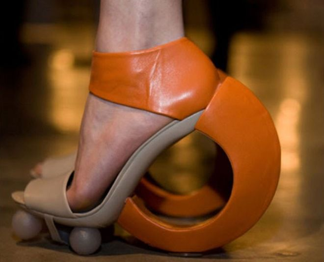 Туфли с круглой подошвой