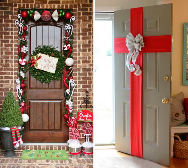 Декорируем входные двери своими руками