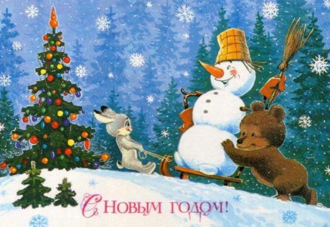в памяти звучат новогодние песни