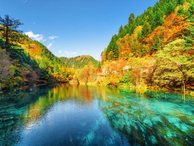 Национальный парк долины Цзючжай, Китай