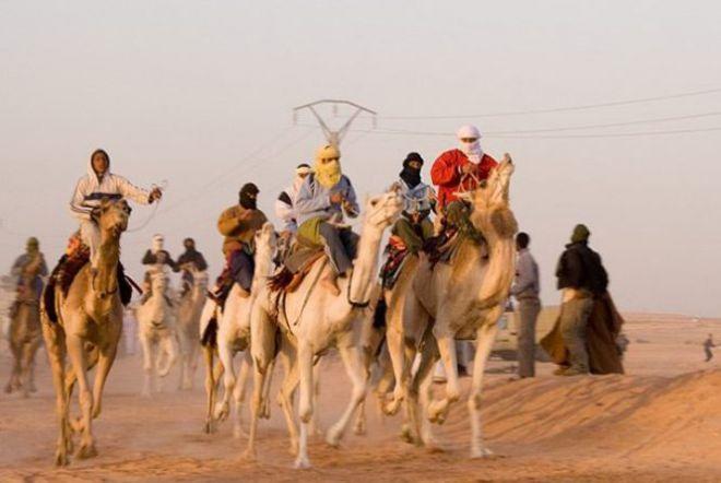 Наездники на верблюдах