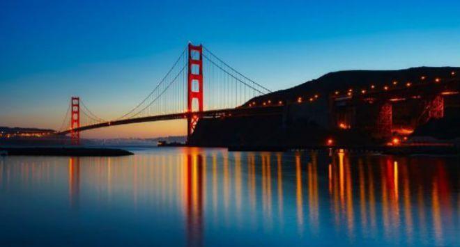 Мост на закате