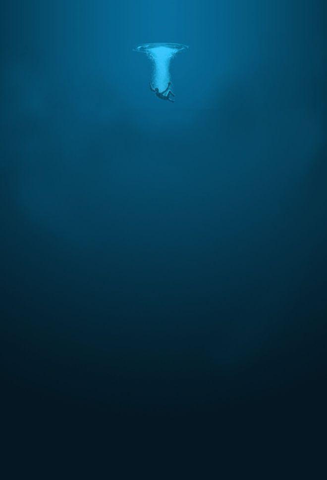 Человек в морской пучине