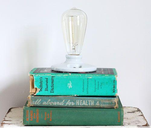 Светильник из книги своими руками