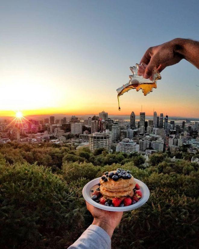 С прекрасным видом завтрак вкуснее: 30 фото, которые вызовут восторг