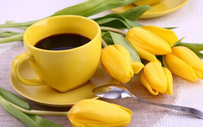 медленно выпить кофе