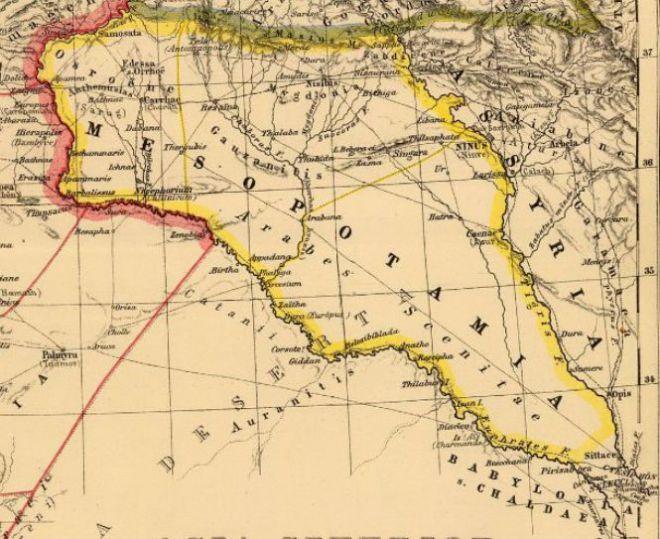 Древняя карта Месопотамии