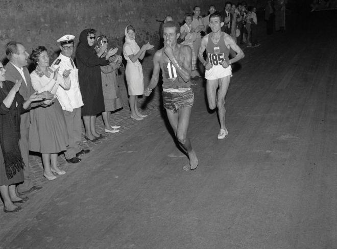 1960 бег босиком
