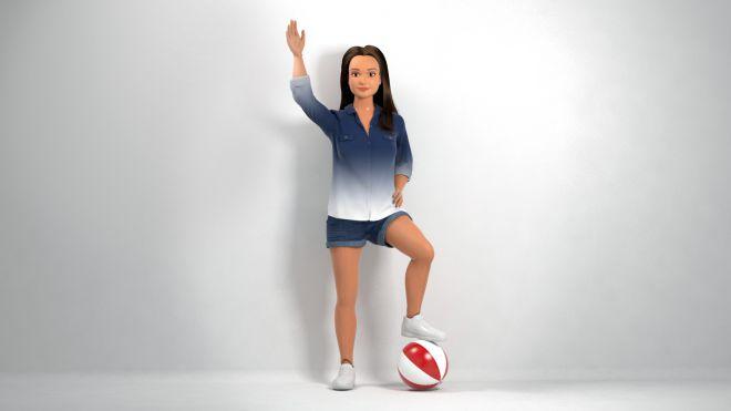 Кукла с мячом