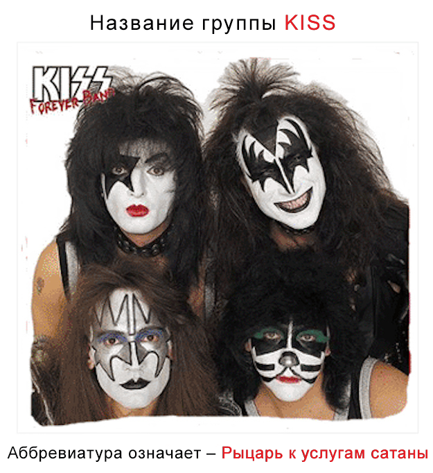 Название группы KISS