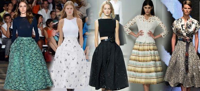 Мода лето юбки платья