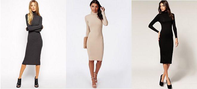 Облегающие платья выше колен