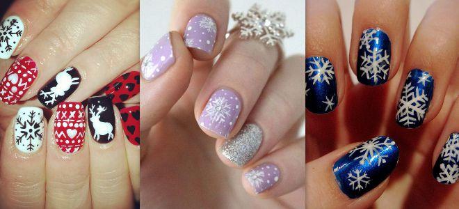 Дизайн ногтей новый год картинки