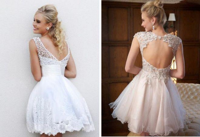 Платье с открытой спиной с сеткой