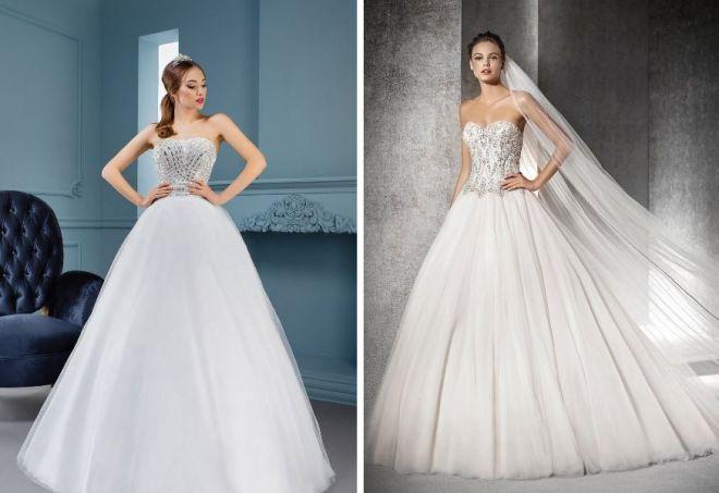Пышные свадебные платья на корсете фото