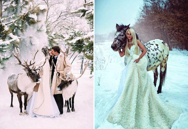 Фото свадебные зимние