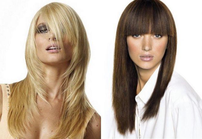 Модная челка 2017 на длинные волосы для девушек на каждый
