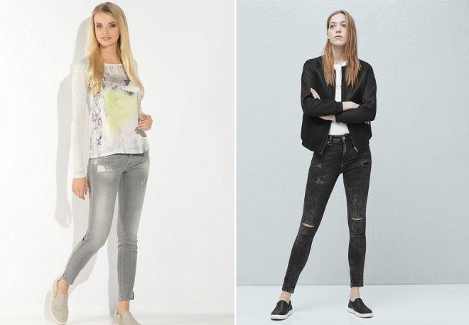серые джинсы 1