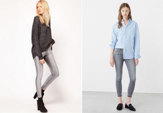 серые джинсы 10