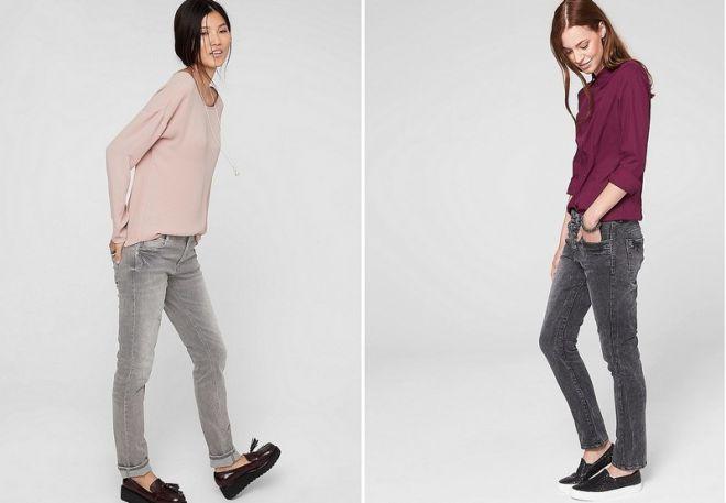серые джинсы 8
